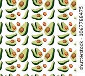 fresh avocado vegetable pattern ... | Shutterstock .eps vector #1067788475