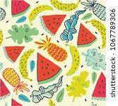 lovely summer pattern  ...   Shutterstock .eps vector #1067789306