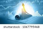 3d illustration of economic... | Shutterstock . vector #1067795468