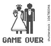 funny wedding symbol   game over | Shutterstock .eps vector #106780346