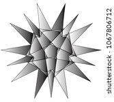 festive geometric set stars and ... | Shutterstock .eps vector #1067806712