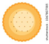 round biscuit icon. flat... | Shutterstock .eps vector #1067807585