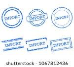 import stamps on white   Shutterstock .eps vector #1067812436