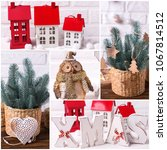 collage from  christmas  and...   Shutterstock . vector #1067814512