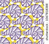 seamless pattern with hand... | Shutterstock .eps vector #1067818388
