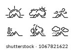 set of weather in the mountains ...   Shutterstock .eps vector #1067821622