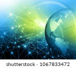 best internet concept of global ... | Shutterstock . vector #1067833472