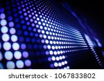 blue toned led wall close up | Shutterstock . vector #1067833802