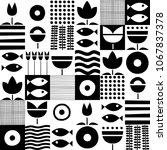 folk art pattern in... | Shutterstock .eps vector #1067837378