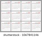 set identical light mini... | Shutterstock . vector #1067841146
