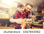 family  carpentry  woodwork and ... | Shutterstock . vector #1067843582