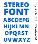 3d effect of stereoscopic... | Shutterstock . vector #1067845148