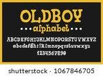 hand drawn alphabet. modern...   Shutterstock .eps vector #1067846705