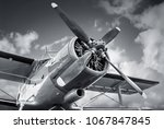 propeller of an historical... | Shutterstock . vector #1067847845