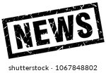 square grunge black news stamp | Shutterstock .eps vector #1067848802