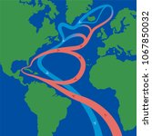gulf stream and north atlantic... | Shutterstock .eps vector #1067850032