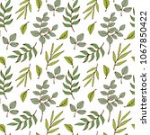 seamless  pattern with green... | Shutterstock .eps vector #1067850422