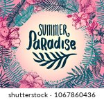 summer time quote lettering...   Shutterstock .eps vector #1067860436