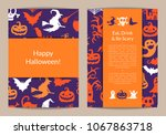 halloween card templates with... | Shutterstock . vector #1067863718