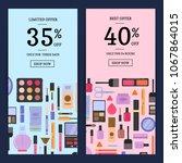 sale banners for beauty shop... | Shutterstock . vector #1067864015