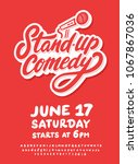 stand up comedy poster template.   Shutterstock .eps vector #1067867036