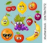 cartoon fruit characters.... | Shutterstock .eps vector #1067867072