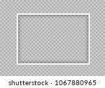 white thin frame design.... | Shutterstock .eps vector #1067880965