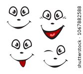 emotions painted simple... | Shutterstock .eps vector #1067882588