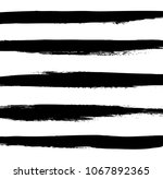 hand drawn horizontal stripes... | Shutterstock .eps vector #1067892365