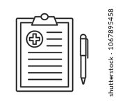 medical report linear icon.... | Shutterstock . vector #1067895458