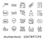 taxes icon set. included the... | Shutterstock .eps vector #1067897195