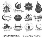 islamic sticker badge. included ... | Shutterstock .eps vector #1067897198
