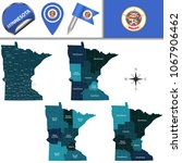 vector map of minnesota with... | Shutterstock .eps vector #1067906462