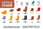chair set vector. office... | Shutterstock .eps vector #1067907515