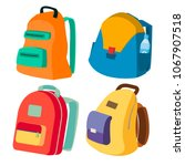 schoolbag set vector. closed... | Shutterstock .eps vector #1067907518