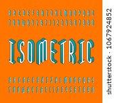 isometric alphabet font. td... | Shutterstock .eps vector #1067924852
