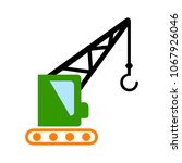 crane icon   vector... | Shutterstock .eps vector #1067926046