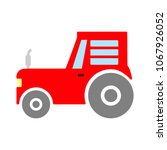 vector tractor illustration ... | Shutterstock .eps vector #1067926052