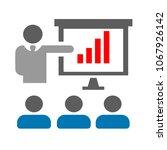 conference presentation... | Shutterstock .eps vector #1067926142