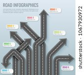 infographics template with road ... | Shutterstock .eps vector #1067930972