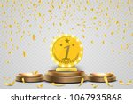 winner background. first place... | Shutterstock .eps vector #1067935868