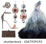 a set of fashionable  evening... | Shutterstock . vector #1067939192