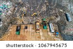 a lot of waste is disposed of... | Shutterstock . vector #1067945675