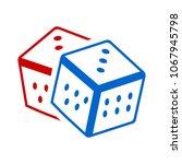 dices icon. casino game icon  ... | Shutterstock .eps vector #1067945798