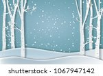 forest of winter season paper... | Shutterstock .eps vector #1067947142
