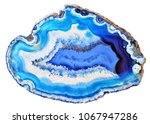 amazing white blue agate... | Shutterstock . vector #1067947286