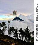Fuego Volcano Erupting Red Hot...