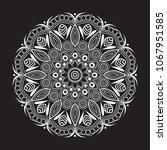 mandala vector  hand drawn...   Shutterstock .eps vector #1067951585