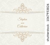 save the date invitation card... | Shutterstock .eps vector #1067953826