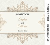 save the date invitation card... | Shutterstock .eps vector #1067953832